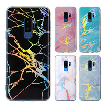 For Sumsung note 9 Galaxy s8 Plus s9 s7 Fashion Marble stand Case sumsung 8 Gold Plating Colorful Kickstand