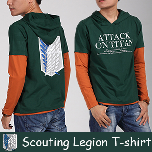 Japanese anime Attack On Titan t shirt tshirt scouting legion clothes shingeki no kyojin long-sleeve T-shirt