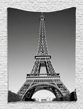 Eiffels Tower Tapestry Decor Paris Landmark and Monochrome Picture of Cityscape Design Bedroom Living Room Dorm Wall Hanging(China)