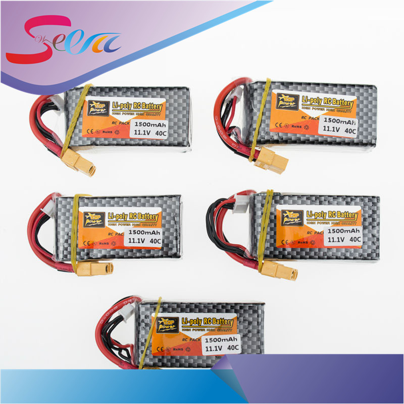Zop 11.1V 3S 1500mah lipo battery 40C T XT60 plug 5pcs for RC Car Airplane trucks buggy boats Helicopter parts кабель микрофонный onetech pro two xlr xlr 5 m