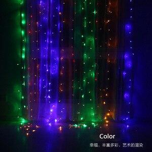 Image 4 - 3x3m 300 led ストリングの妖精ライト結婚式のガーデンパーティー led カーテン装飾クリスマス花輪ライト文字列の led ライト装飾