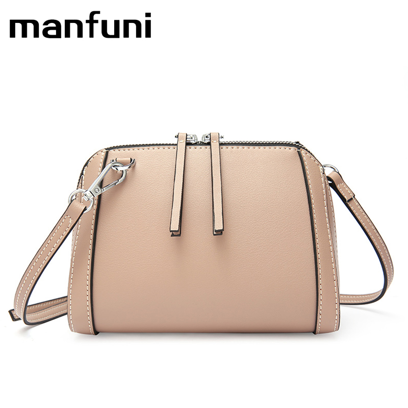 MANFUNI 100% Genuine Leather Small Handbags Tassel leather Women Shoulder Bags Female Real First Layer Cow Leather Messenger Bag цена