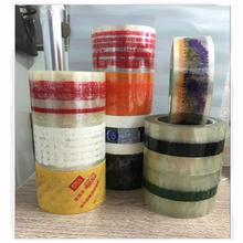 Clear Transparent Sealing Sticky Tape 50 Rolls Office supplies personalized Packaging Adhesive Tape printed free with logo text недорого