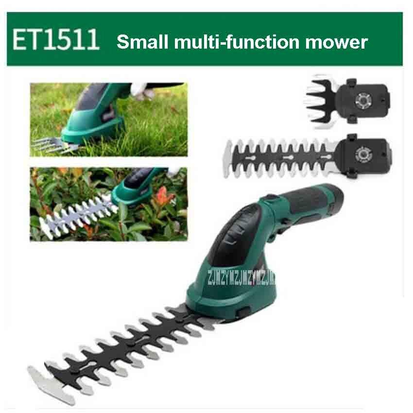 ET1511c портативная маленькая многофункциональная газонокосилка 7,2 В 1,5 Ач перезаряжаемая садовая электрическая газонокосилка для стрижки из