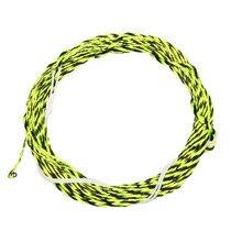 12 / 13FT Furled Leader Tenkara Fly Fishing Line Braided Tenkara Line Grass Green Gold Black Yellow