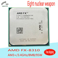 Desktop Processor AMD FX 8310 Eight-Core  CPU 3.4G/8M/95W Socket AM3+ CPU  FX-8310 Bulk Package (working 100% Free Shipping)New