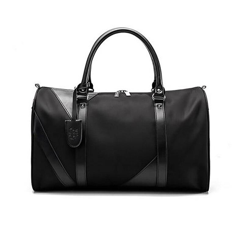 Wobag New Fashion Waterproof Nylon Men Travel Bags Overnight Duffel Bag Weekend Travel Large Tote Crossbody Travel Bags