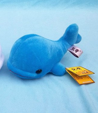 plush big head dolphin toy stuffed lovely blue whale doll gift about 29cm