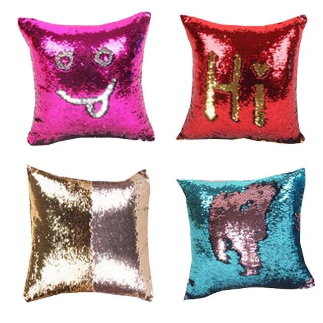 sequins diy pillow cover cases for home decor creative pattern throw Diy Pillow Decor