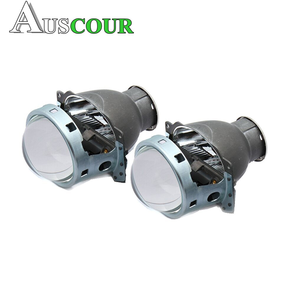 2 pcs 3.0 inch H7Q5 Bi xenon Hid Projector Lens Headlamp Headlight bulb Metal Holder h7 Hid Xenon Kit car assembly kit Modify new m803 2 5 car motorcycle universal headlights hid bi xenon projector kit and m803 hid projector lens for free shipping