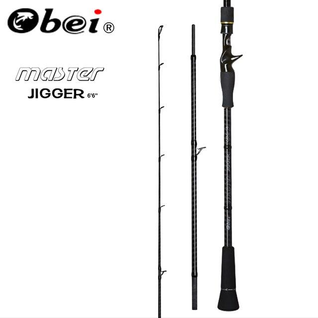 Obei Master Boot Langzaam Jigging Hengel 100 500G Reizen Spinning Casting Lokken Staaf 30 80IB Vissen Lokken Hengel