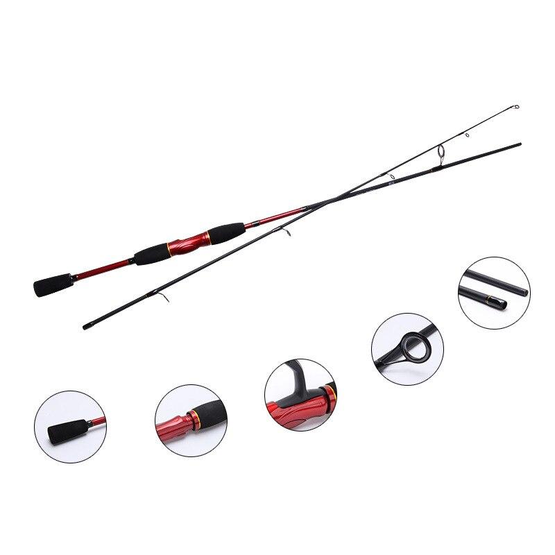 1.8M Baitcasting Rod and Spinning Fishing Pole 100% Carbon Spinning Lure Fishing Rod M Power 4-12LB 4-22g Lure Weight