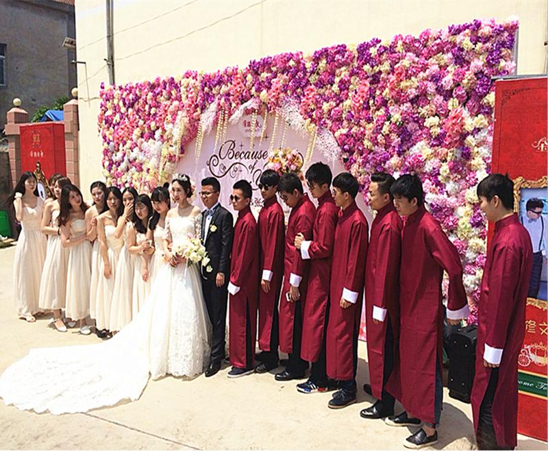 Chinese Men Stage Performance Clothes Vintage Groomsman Wedding Party Robe Gown Oversize 3XL 1930s Male Ancient Clothes