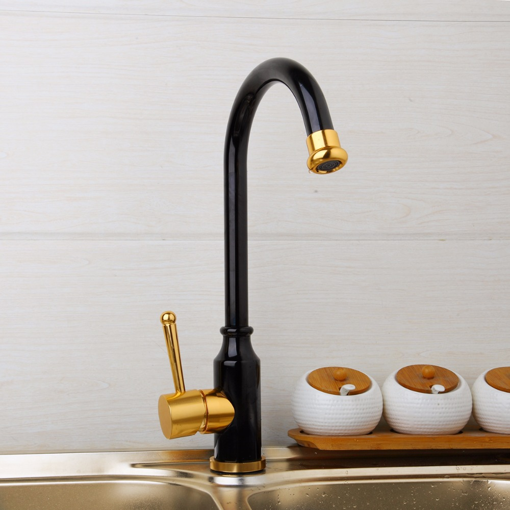 KEMAIDI New Style Kitchen Sink Mixer Rose Gold Polished Space Aluminium Metal Black Single Handle Water Tap Bathroom Faucets Tap-in Kitchen Faucets from Home Improvement    3