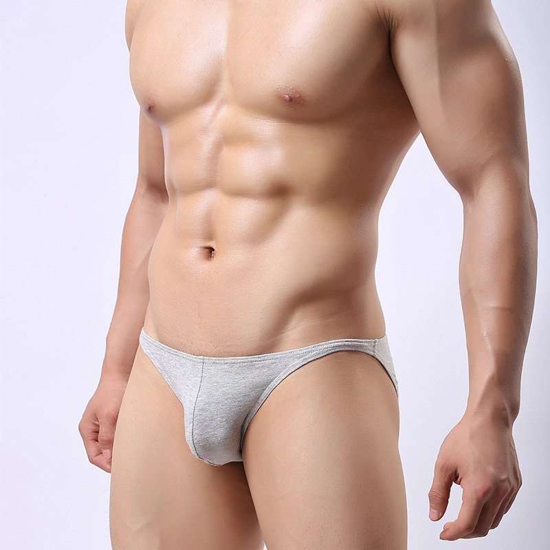 Men's Underwear Cotton Sexy Front Convex Men's Briefs Comfortable Breathable Elastic Bag Hip Quality Cotton Underwear Men