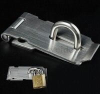 스테인레스 스틸 하브 스테이플 안전 도어 볼트 래치 자물쇠 1pc 128x43mm