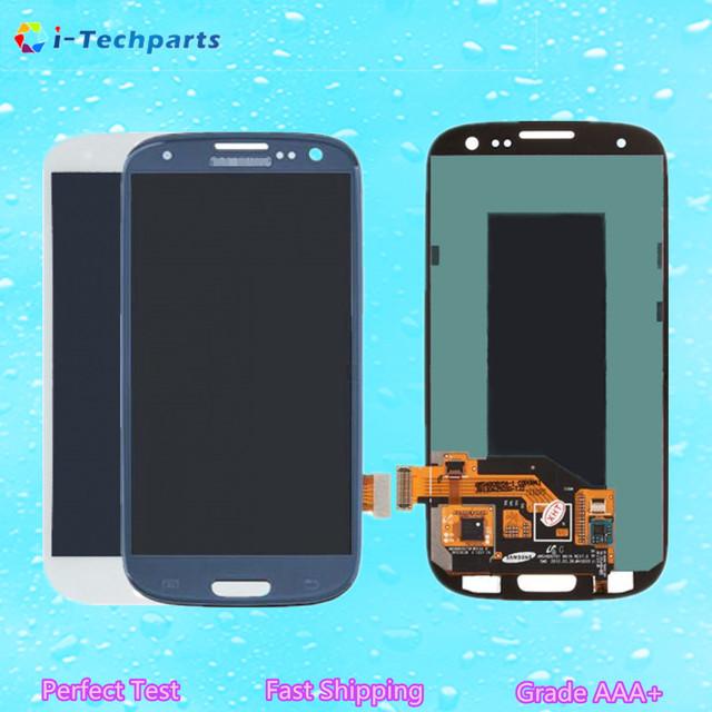 Display lcd original e touch screen digitador assembléia para samsung galaxy s3 i9300 i535 i747 l710 t999 r530