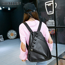 New England woman fashion pu soft leather buckle casual backpack Fashionista Shoulders package