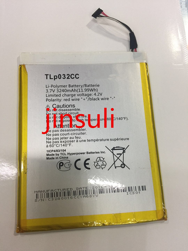 Jinsuli 3240 mah TLp032CC Batterie Für Alcatel One Touch Pixi 8 8,0 3g 9005X OT-9005X Handy Batterie Batterij bateria