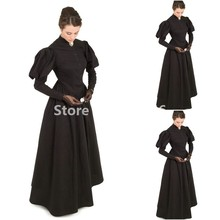 18th Renaissance Reaction Manor Hostess черное платье Хэллоуин Королева вампиров Готический викторианский бальное платье