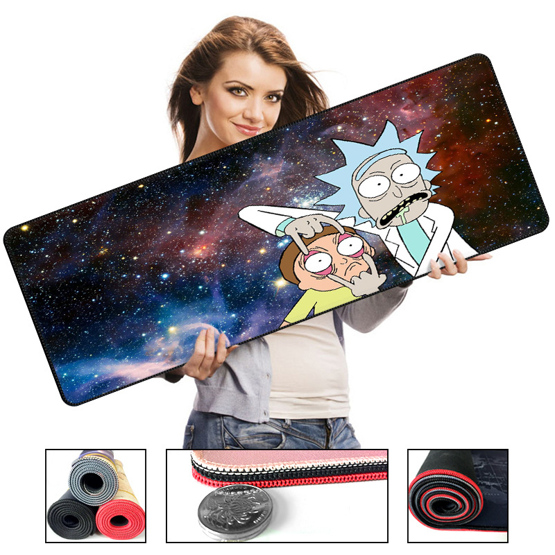 Mouse Pads 700*300*2 Size Cartoon Style Mouse Pad Anti-slip Natural Rubber Pc Computer Gaming Mousepad Desk Mat With Locking Edge For Lol