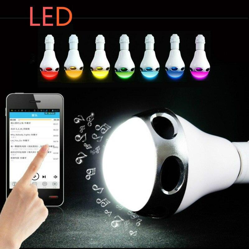 Draadloze Muziek Knipperende gekleurde Lichten Smart Kleurrijke LED Bluetooth Speaker Hi Kwaliteit Verlichting Controle Tricolored Bollen