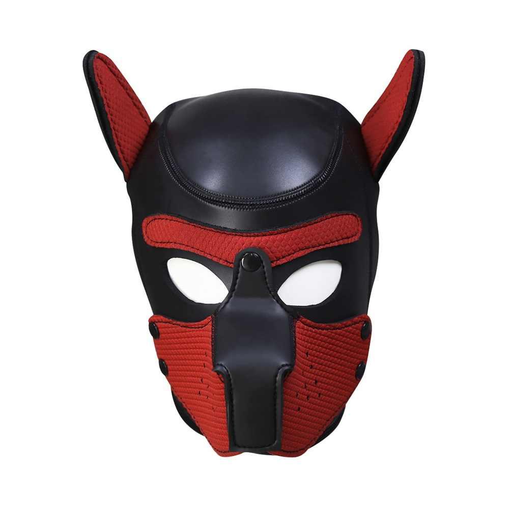 10 Warna M/L Sexy Sex Masker Cosplay Anjing Penuh Kepala Masker dengan Telinga Lembut Empuk Mainan Karet Lateks hood Anak Bermain Peran Pesta Kostum