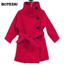 2017 New Baby Girl Jacket Kids Girls Coats Winter Kids Woolen Jackets Girls Casual Black Solid Children Outerwear 3 colors