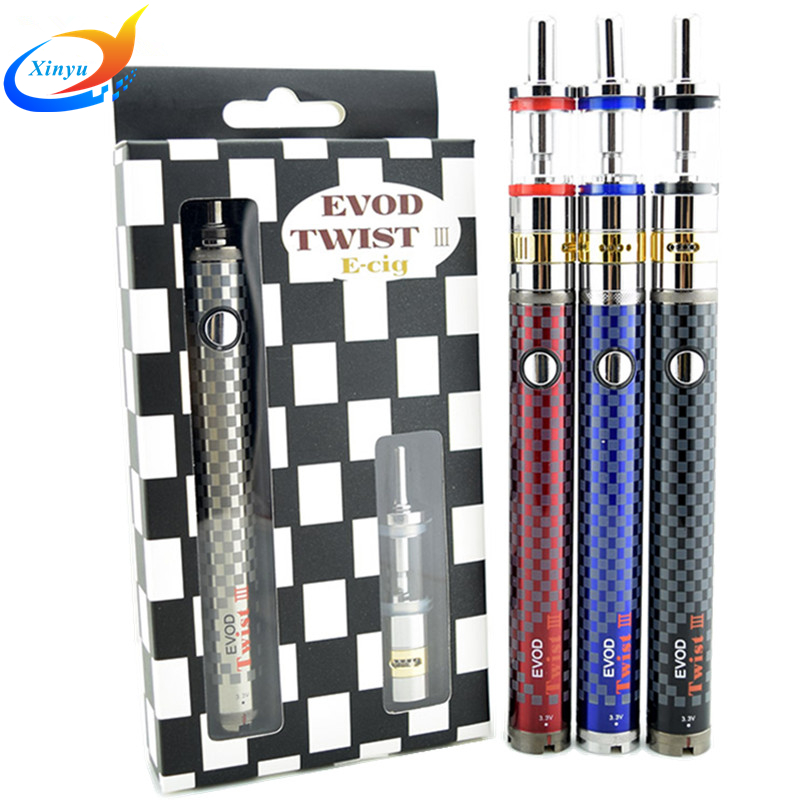 Evod twist III 3 electronic cigarette kit M16 Dual Coil Adjustable airflow control M16 Vaporizer e cigarette vape starter kit