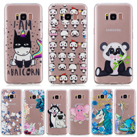 100pcs Case FOR Coque Samsung Galaxy S8 Case Cover Soft TPU Painting Phone Back Protective FOR Funda Samsung S8 Case