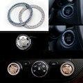 Decoração de metal coroa de cristal estilo de botão de parada de partida do motor do carro para benz bmw buick mazda audi q3 etc encaixa a maioria dos carros