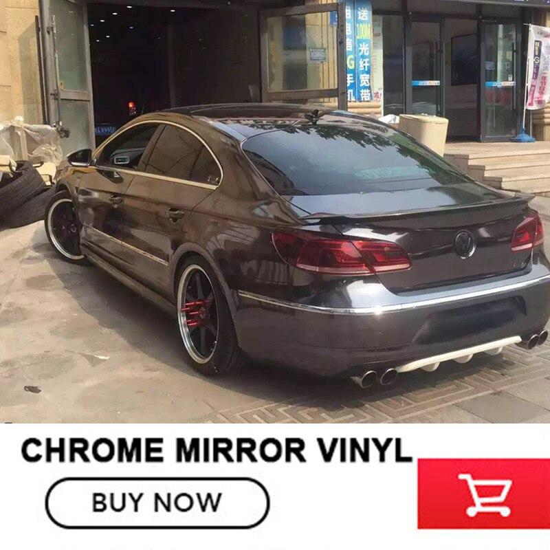 grey chrome Mirror vinyl car wrap Chrome Film for logo mitsubishi for any auto flexible chrome vehicle vinyl nitro triple chrome plated abs mirror 4 door handle cover combo