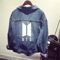 Kpop Bantan Boys Denim Jeans JIMIN J HOPE JUNGKOOK V Same Women Bomber Autumn Winter Denim Jacket Coats