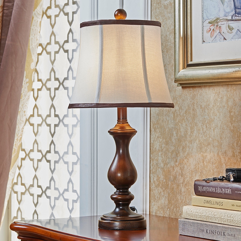 TUDA Free Shipping  Large Retro Table Lamp American Country Style Resin Table Lamp For Bedroom Bedside Living Room Desk Lamp E27 пазлы magic pazle объемный 3d пазл эйфелева башня 78x38x35 см
