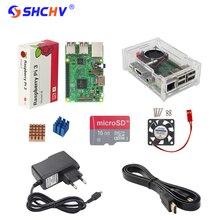 UK Raspberry Pi 3 Modell B Starter Kit + Acryl Fall + 16G Sd-karte + Lüfter + Netzteil + 1,5 Mt HDMI Kabel + Wärme waschbecken