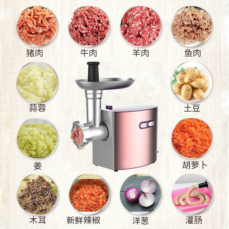 Meat Grinders stainless steel home electric grinder multi function minced enema garlic small comme NEW|Meat Grinders| |  - title=