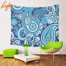Hyha poliéster tapiz bohemio flor 130×150 cm tapiz mandala mandala flor playa manta yoga playa de separador de ambientes