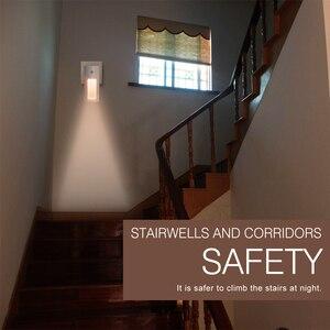 Image 5 - BORUiT Plug in sensörü LED gece lambası sıcak beyaz gece lambası yatak odası için lamba bebek odası sensörü koridor merdiven lambası ab/abd/İngiltere tak