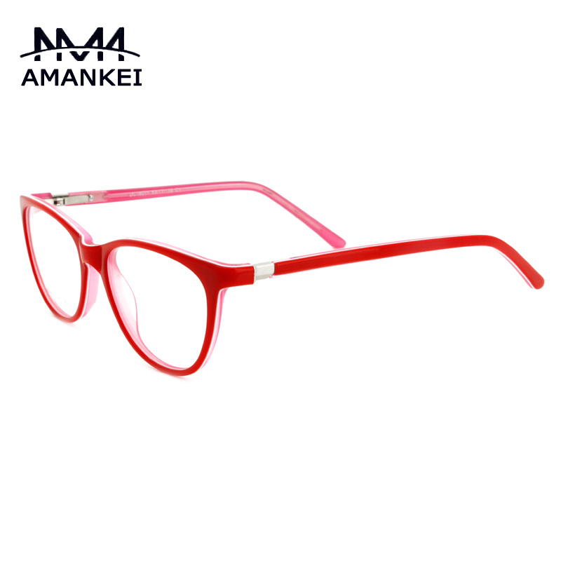Buy Red And Black Acetate Eye Glasses