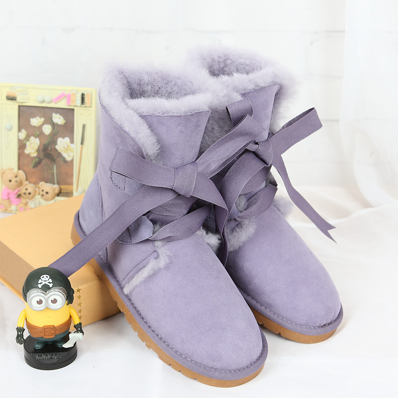Special high quality snow boots 2017 winter new Australia's 100% natural sheep fur one female boots warm shoes free shipping
