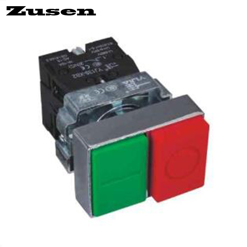 Zusen 22mm metal block type double head momentary push button switch