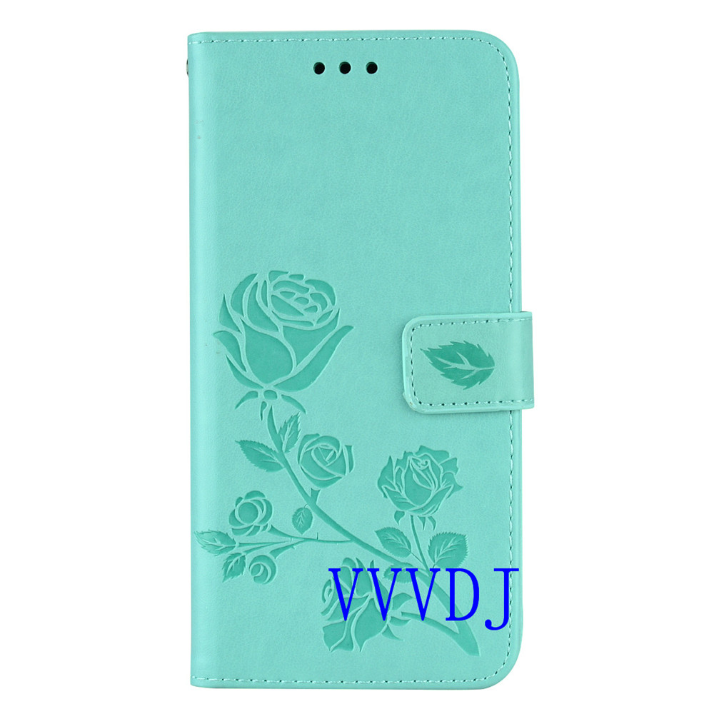 for Xiaomi Redmi Note 5 Pro cover red mi note5pro case Solid color flower for coque Redmi Note5 Pro phone cases flip wallet clip