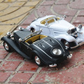 Supercar Antique Classic Car 1:36 scale alloy pull back model car Retro Diecast cars toy Children's gift