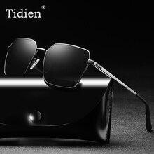 Polarized Retro Sunglasses Men Vintage Square Luxury Brand Designer Classic Black Fashion For UV400