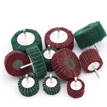 6 мм щетка для чистки, абразивное колесо, нейлоновое волокно, шлифовальная Шлифовальная головка, Полировочный диск, волоконный шлифовальный круг для Dremel