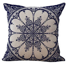 Flower Throw Pillow Sofa Chair