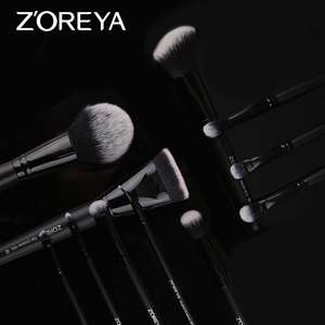 Image 3 - ZOREYA Make Up Brush Set 2/8/12pcs Delicate Makeup Brushes Powder Foundation Contour and Eye Brushes 2019 New Model