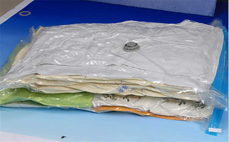 Saco de vácuo Seal Comprimido Organizador De Armazenamento Em Casa Transparente Fronteira Roupas Dobráveis Organizador de viagem Sacos Pacote de Economia de Espaço