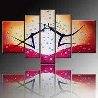 High Skills Artist Handmade Modern Abstract Group Oil Painting on Canvas Funny Modern Art Pictures for Friend Unique Gift