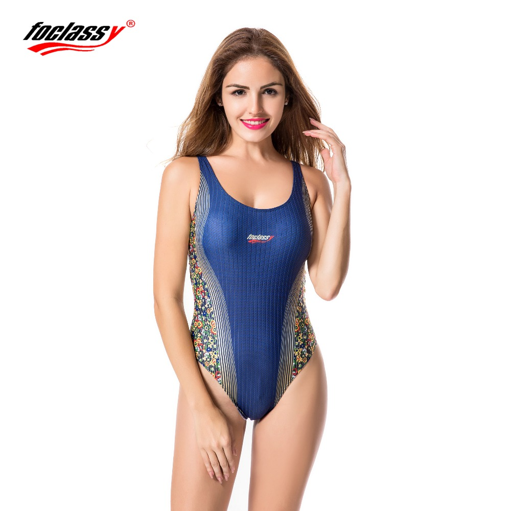 Foclassy Sports Swimsuit Bikini 2017 Plus Size Swimwear Womens swimming suit Bather Bathingsuit Beach Wear Maillot De bain